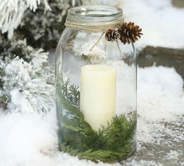 χριστουγεννιάτικη διακόσμηση με απλά υλικά