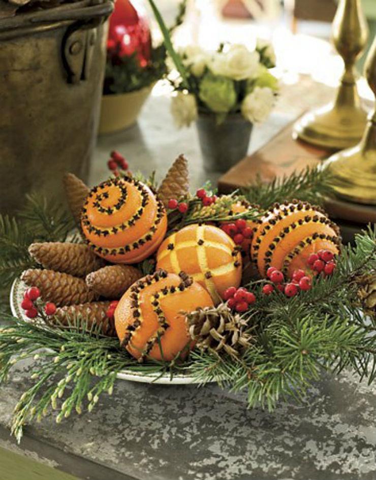 Χριστουγεννιάτικες ιδέες διακόσμησης με φυσικά υλικά